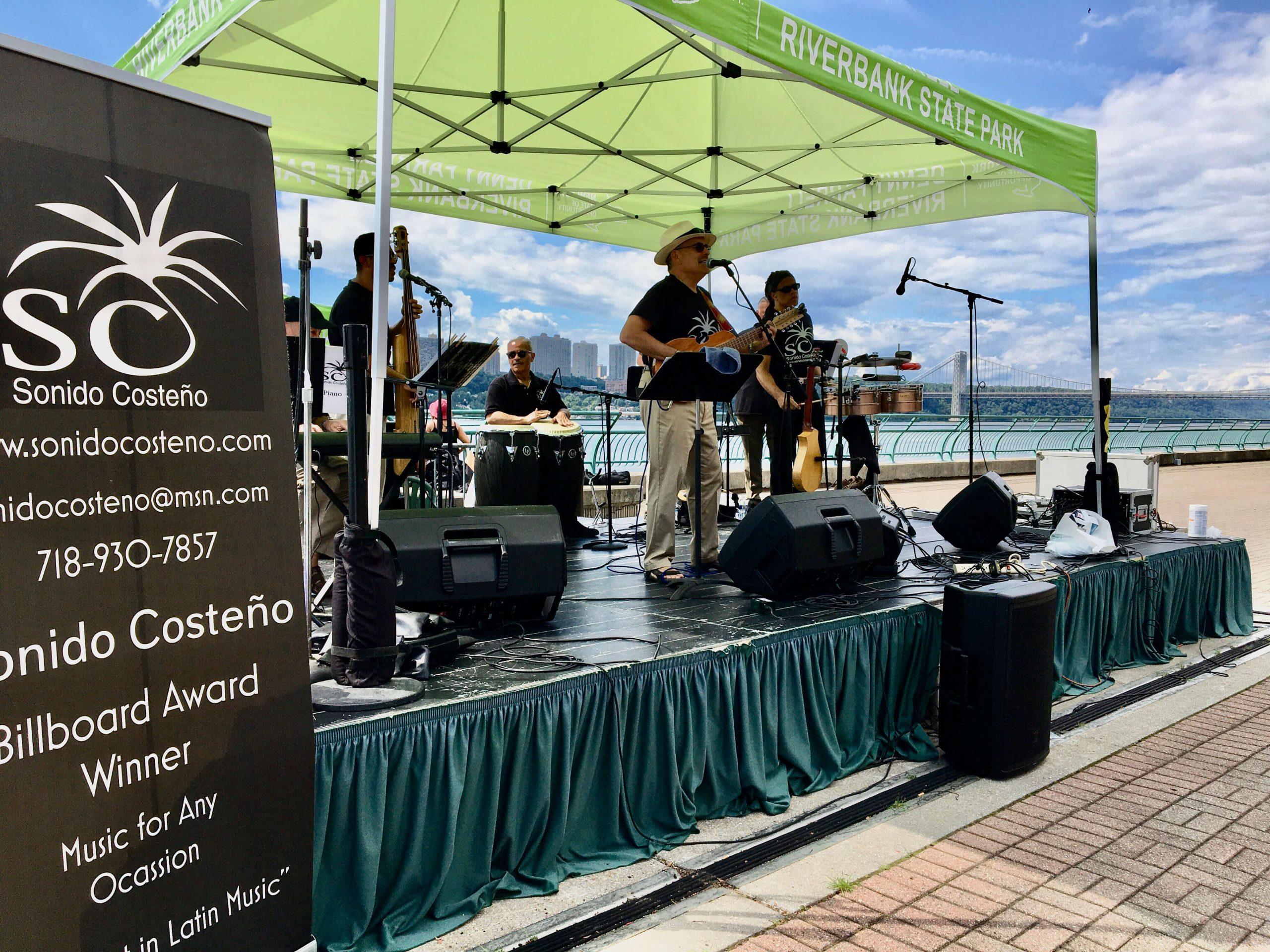 Sonido Costeno playing at Riverbank State Park